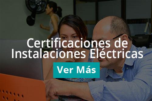 Certificaciones de instalaciones electricas
